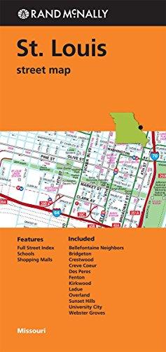 Folded Map St Louis Streets Mo Rand Mcnally