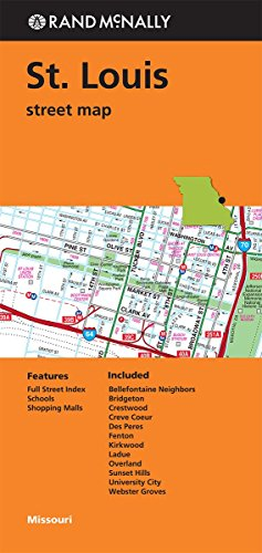 9780528008740: Rand McNally: Folded Map: St. Louis Street Map (Rand Mcnally Street Map)