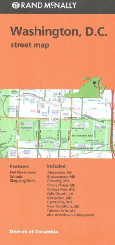 9780528008757: Rand Mcnally Washington D.C. Street Map (Red Cover)