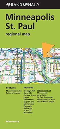 9780528008832: Rand Mcnally Minneapolis/St. Paul, Minnesota Regional Map