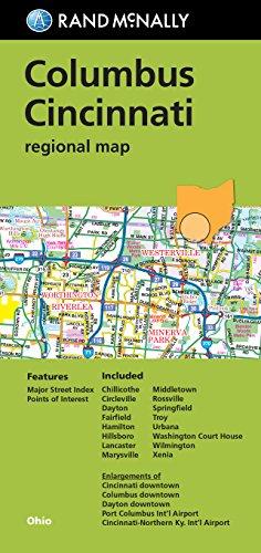 Rand McNally: Columbus/Cincinnati, Ohio Regional Map (Rand McNally Columbus/Cincinnati ...