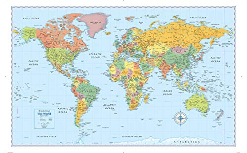 9780528012730: Rand McNally Signature World Wall Map - Paper Rolled