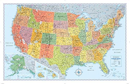 9780528012747: Rand McNally Signature United States Wall Map