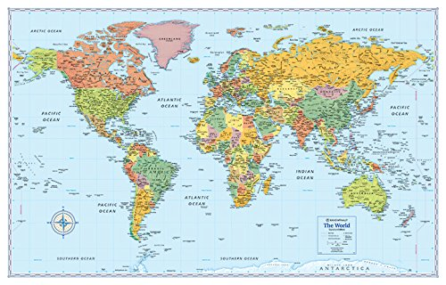9780528012792: Rand McNally Signature Map of the World, 50 x 32-Inch