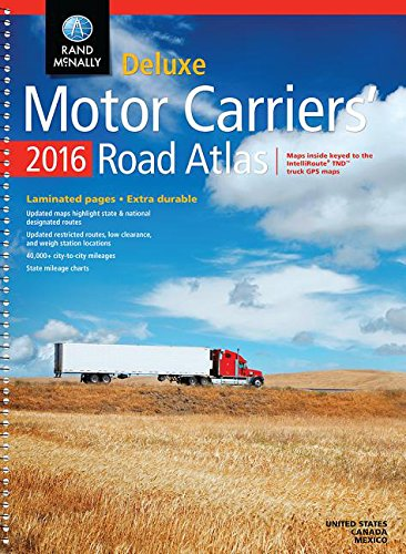 9780528013225: 2016 Deluxe Motor Carriers' Road Atlas: Dmcr (Rand Mcnally Motor Carriers' Road Atlas Deluxe Edition)