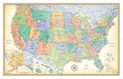 9780528013805: Rand McNally Classic United States Wall Map - Laminated