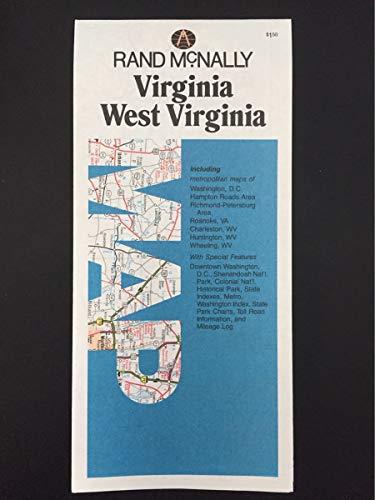 9780528270581: Virginia, West Virginia, map: Including metropolitan maps of Washington, D.C., Hampton Roads area, Richmond-Petersburg area, Roanoke, Va, Charleston, WV, Huntington, WV, Wheeling, WV