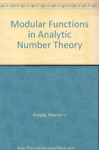 9780528600005: Modular Functions in Analytic Number Theory