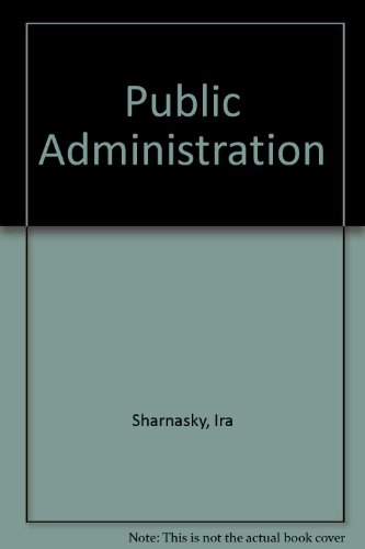 9780528655913: Public Administration (Rand McNally political science series)