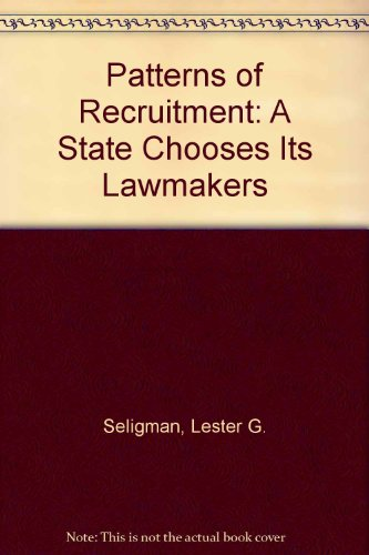 9780528659270: Patterns of Recruitment A State Chooses Its Lawmakers