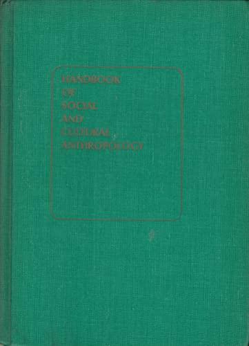 9780528699962: Handbook of Social and Cultural Anthropology. (Rand McNally Anthropology Series)