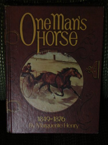 One Man's Horse (0528820923) by Marguerite Henry