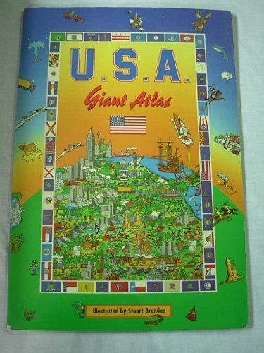 9780528834950: Rand McNally Giant Atlas of the U.S.A.