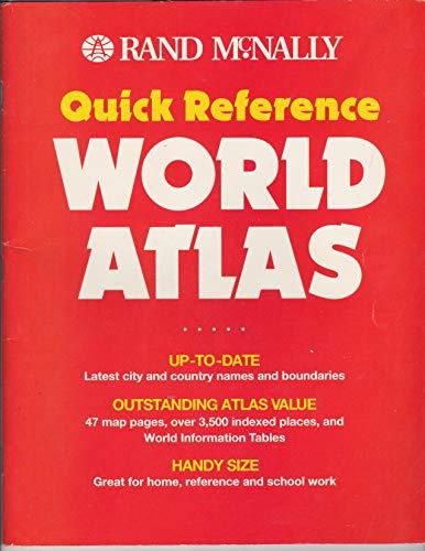 9780528836220: Rand McNally Quick Reference World Atlas