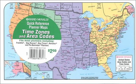 9780528841712: Rand McNally Time Zones Area Codes Planner Map