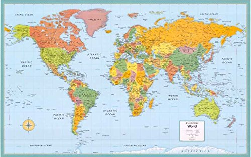 9780528841804: Rand McNally World Paper Map: Brightly Colored 52 X 34 (Cosmopolitan Wall Maps)