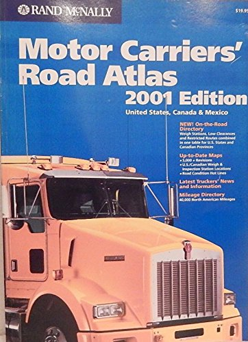 9780528843020: Rand McNally 2001 Motor Carriers' Road Atlas: United States, Canada & Mexico (Rand Mcnally Motor Carriers' Road Atlas)