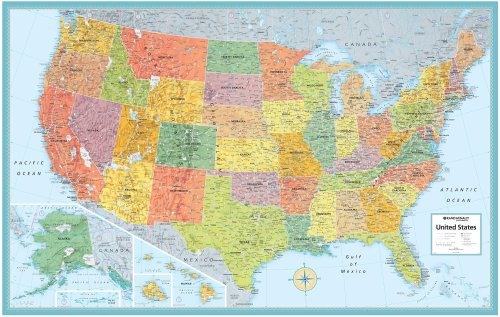 9780528847110: **Usa M Series Rolled Mural52 Cm X 34 Cm (M Series U.S.A. Wall Maps)