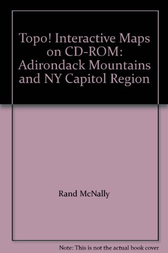 9780528848551: Topo! Interactive Maps on CD-ROM: Adirondack Mountains and NY Capitol Region