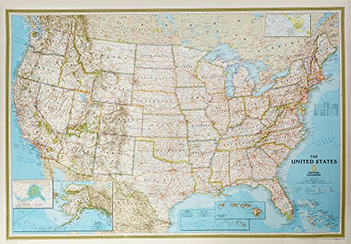 9780528848780: National Geographic United States Political Map: 43 1 ...