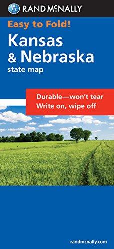 9780528854170: Easy To Fold: Kansas, Nebraska (Easyfinder Maps)