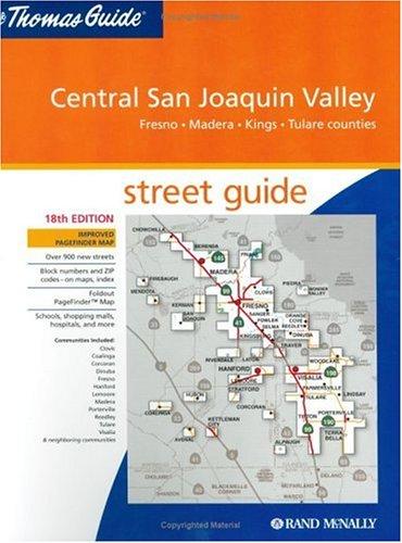 Thomas Guide Central San Joaquin Valley, California: