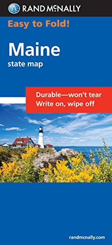 9780528855009: Rand McNally Easy To Fold: Maine (Laminated) (Easyfinder Maps)
