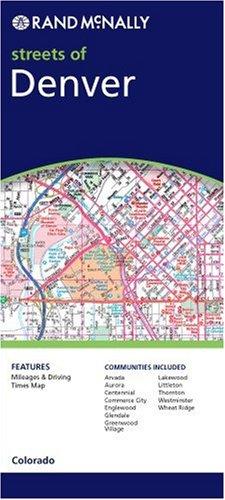 9780528855948: Rand McNally Denver, Colorado: Local Street Detail (Rand McNally Folded Map: Cities)