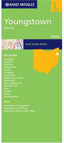 9780528856372: Rand McNally Youngstown, Warren, Ohio: Local Street Detail (Rand McNally Folded Map: Cities)