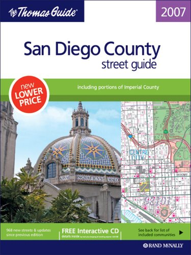 9780528859335: The Thomas Guide 2007 San Diego County street guide, including portions of Imperial County