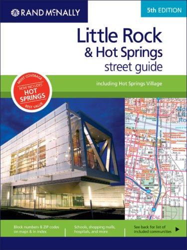 9780528860720: Rand McNally Little Rock & Hot Springs Street Guide