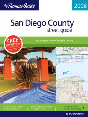 9780528866913: The Thomas Guide 2008 San Diego County, California: Street Guide (Thomas Guides)