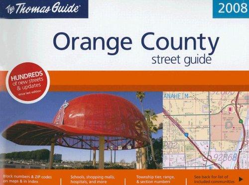 9780528867125: The Thomas Guide 2008 Orange County, California: Street Guide (Thomas Guide Orange County Street Guide & Directory)