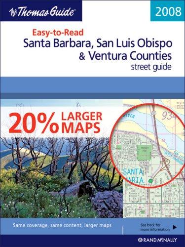 9780528867170: The Thomas Guide 2008 Easy-to-Read Santa Barbara, San Luis Obispo & Ventura Counties street guide