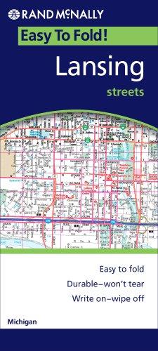 folded map lexington bluegrass area rand mcnally
