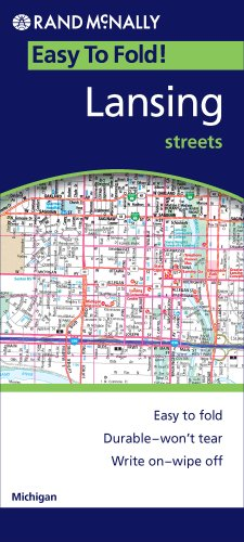 9780528868382: Lansing, Michigan Streets (Rand McNally Easy to Fold!)