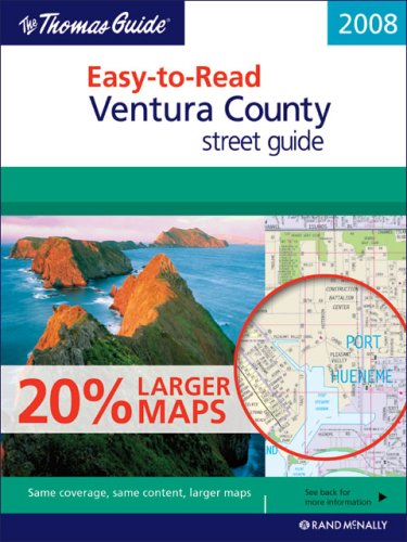 Thomas Guide 2008 Ventura County, California Easy to Read Street Guide (Ventura County, California ...