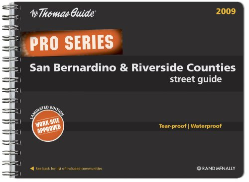 9780528869556: The Thomas Guide San Bernardino County Street Guide 2009: Tear-proof / Waterproof (Pro Series) (English and Spanish Edition)