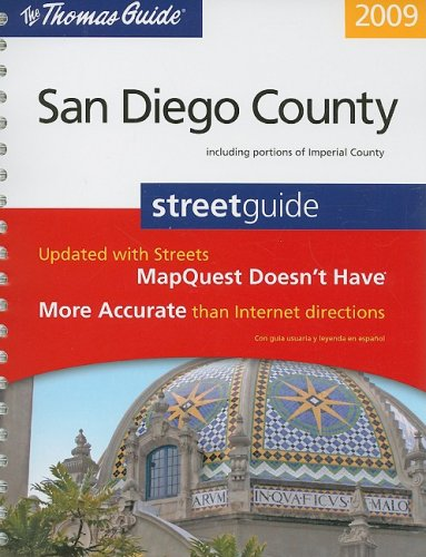 9780528870453: Thomas Guide 2009 San Diego County, California: Street Guide (Thomas Guide San Diego County Including Imperial County Street Guide & Directory) (English and Spanish Edition)