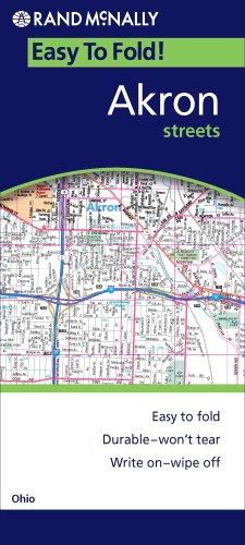 9780528872778: Rand McNally Easy to Fold! Akron Streets, Ohio
