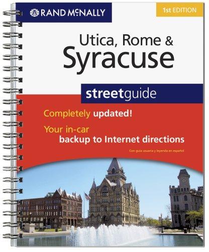 9780528873119: Rand McNally Utica, Rome & Syracuse Street Guide