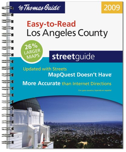 9780528873263: The Thomas Guide Easy-To-Read Los Angeles County Streetguide