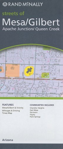 9780528880032: Rand Mcnally Streets of Mesa, Gilbert, Apache Junction, Queen Creek: Arizona