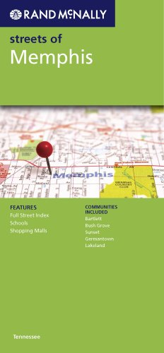 9780528880070: Rand McNally Streets of Memphis: Tennessee