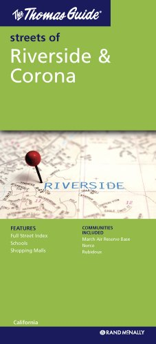 The Thomas Guide Streets Of Riverside Corona CA - Us paper map thomas guide