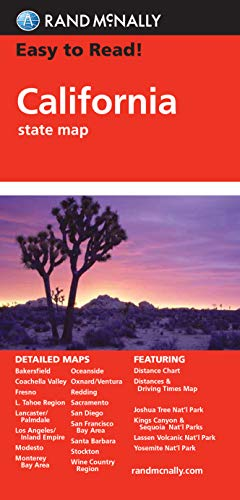 9780528881107: Rand McNally Easy to Read! California State Map