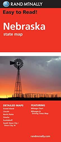 9780528881848: Rand McNally Easy to Read Nebraska State Map