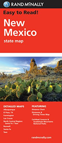 9780528881879: Rand McNally Easy To Read: New Mexico State Map