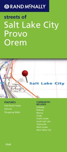 9780528882579: Rand McNally Streets of Salt Lake City: Provo, Orem
