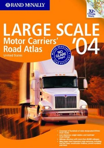 9780528900389: Rand McNally Large Scale Motor Carriers' Road Atlas '04